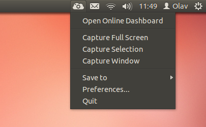 A screenshot of the client running on Ubuntu